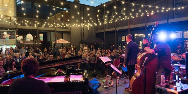 Rectangle courtyard jazz fest