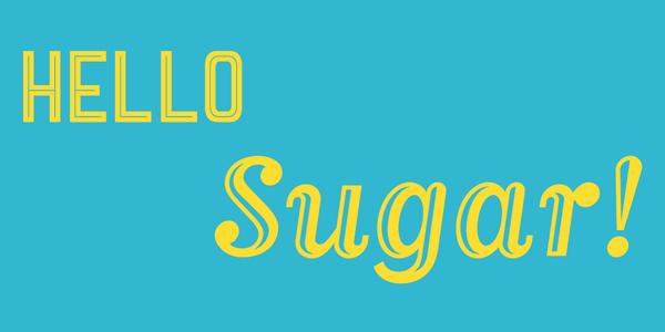 Rectangle top banner hello sugar