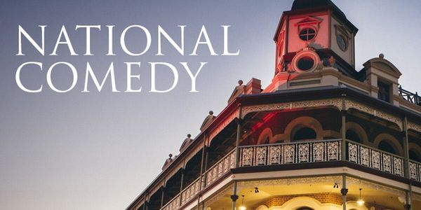 Rectangle national comedy banner