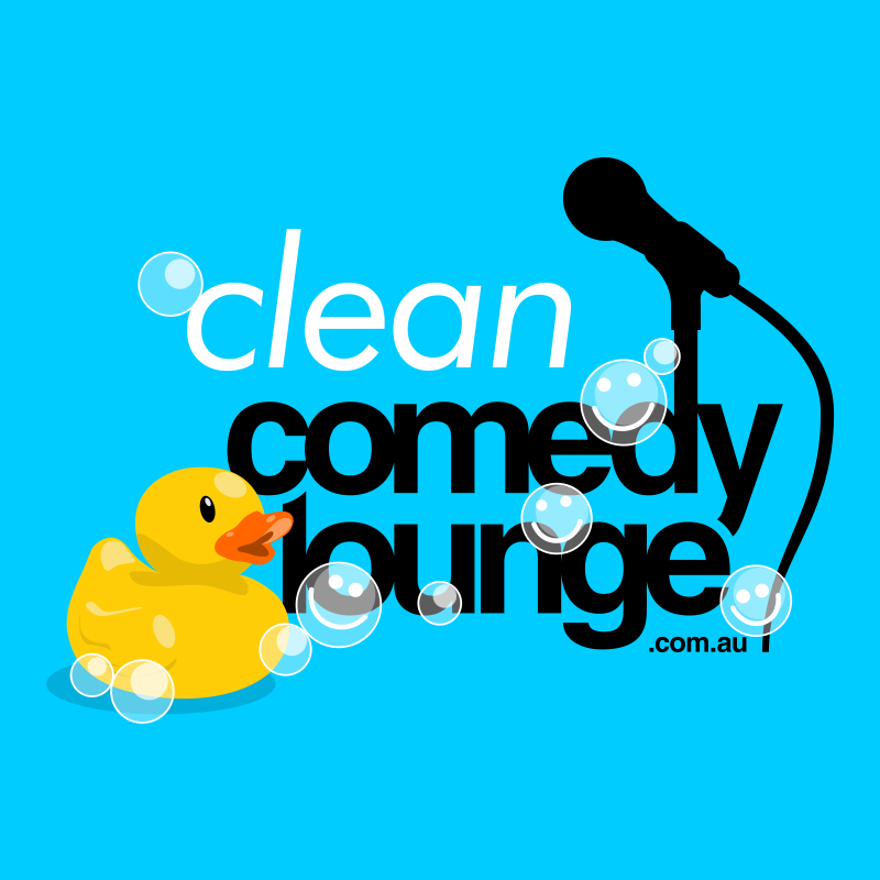 Scaled clean comedy title stamp