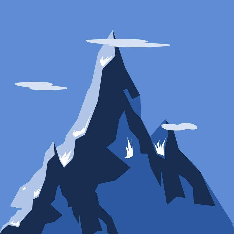 Scaled mountain printed 1