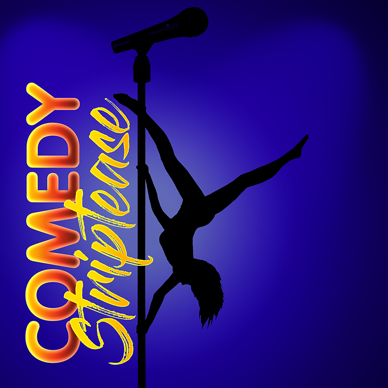 Scaled comedy striptease