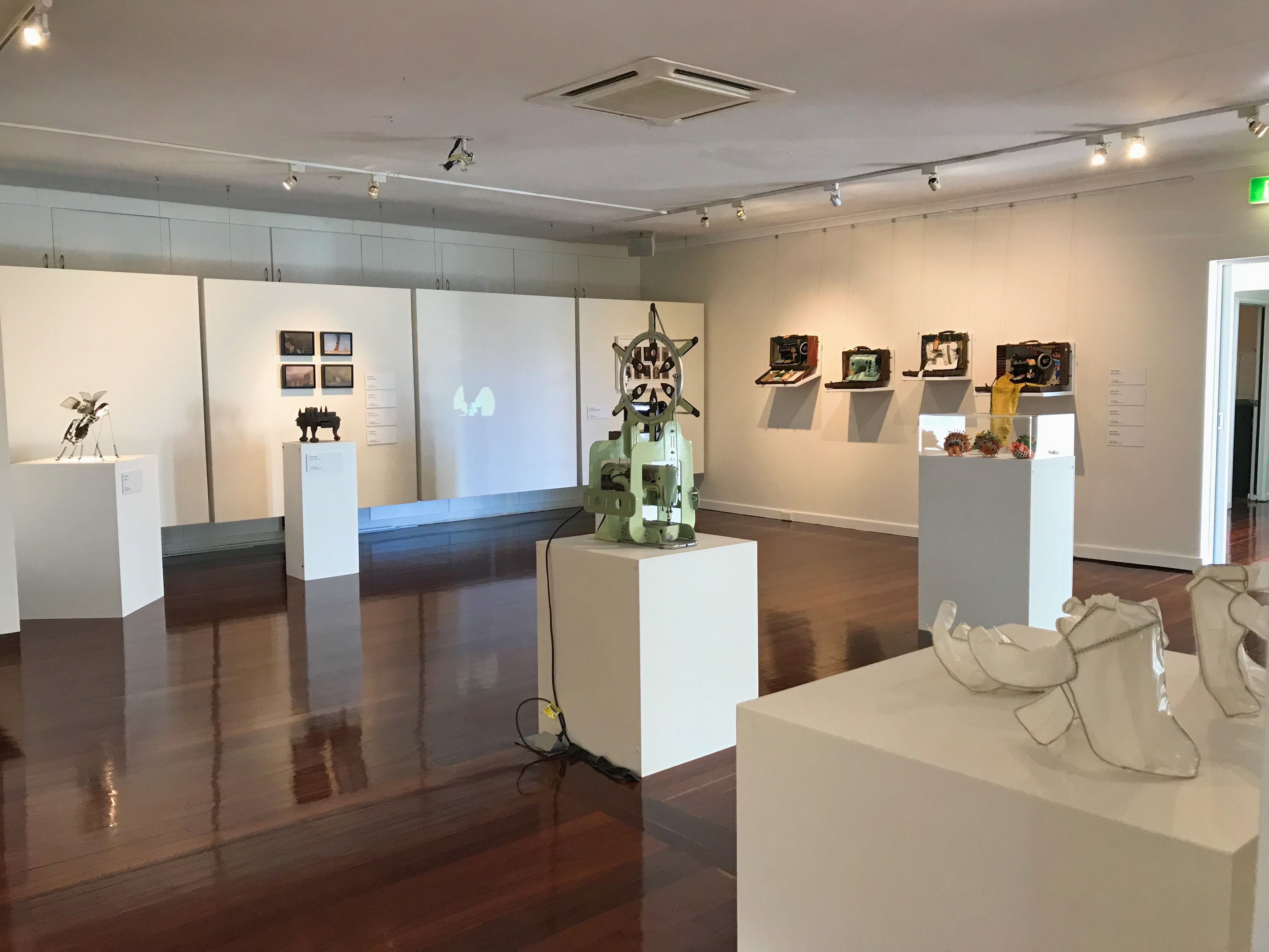 Beach street gallery. exhibition pictured machines   makers