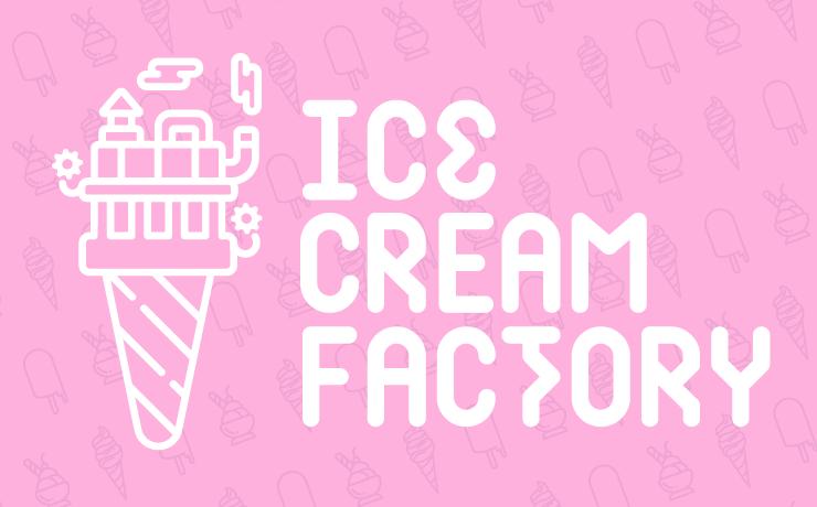 Scaled ice cream factory